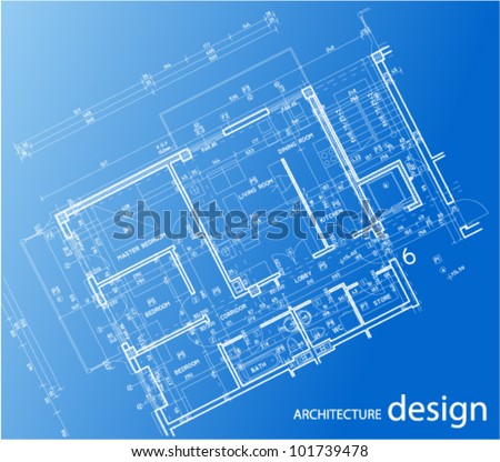 Apartment floor plan - stock vector