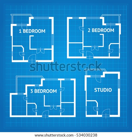 Apartment floor plan unfurnished set blueprint stock vector royalty apartment floor plan unfurnished set blueprint design elements vector illustration malvernweather Gallery