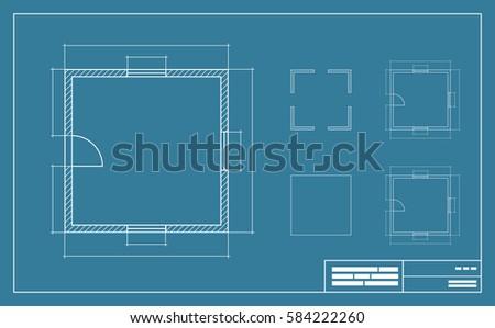 Blueprint smartphone stock vector 353381162 shutterstock apartment floor simple plan blueprint with no furniture top view vector illustration malvernweather Gallery