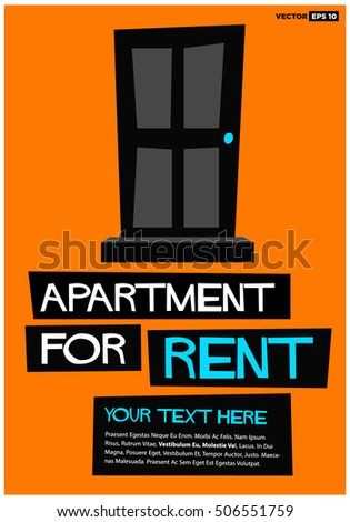 Apartment Rent Poster Banner Board Design Stock Vector Hd Royalty