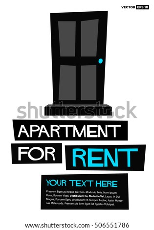 Apartment Rent Poster Banner Board Design Stock Photo Photo Vector