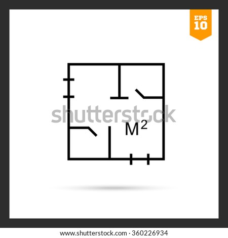 Floor plan icons stock images royalty free images for Apartment stock plans