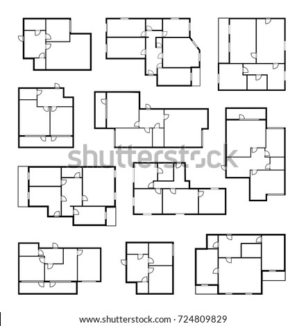 Apartment vector plans architectural project blueprint vectores en apartment vector plans architectural project blueprint malvernweather Image collections