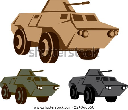 APC armored personnel carrier - stock vector