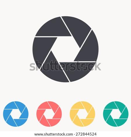 aperture icon - stock vector