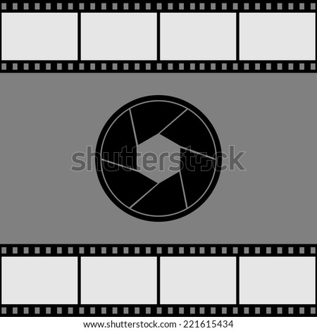 Aperture icon. Vector illustration. - stock vector