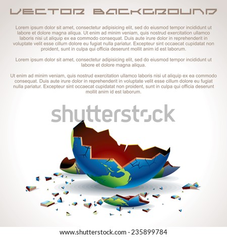 Apocalyptic Background. Ready for Your Text and Design. - stock vector
