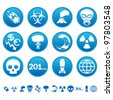 Apocalyptic icons - stock vector