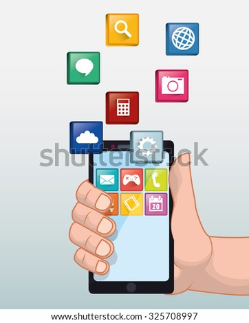 App concept with gadget icon design, vector illustration 10 eps graphic.