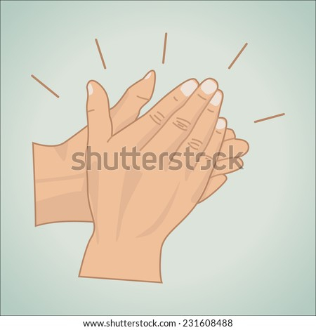 Applause icon, vector illustration - stock vector