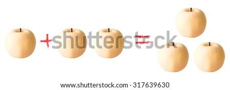 Apple calculation   - vector illutration  - stock vector
