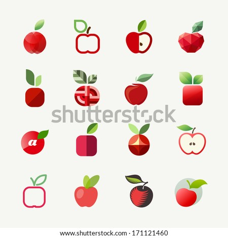 Apple. Elements for design - stock vector
