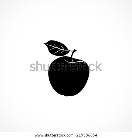 apple, flat icon isolated on white background - stock vector