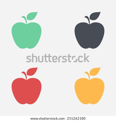 Apple icon. - stock vector