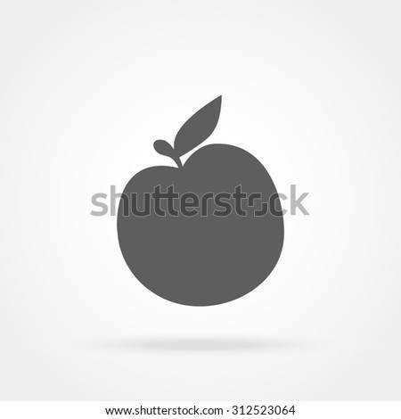 apple icon - stock vector