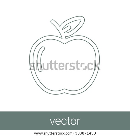 apple icon. Concept flat style design illustration icon. - stock vector