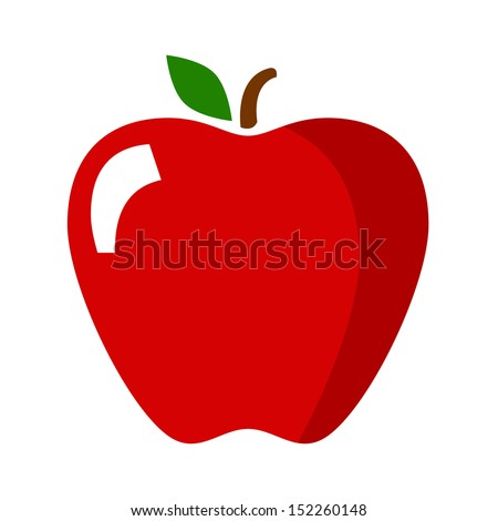 Apple Icon in Color - stock vector