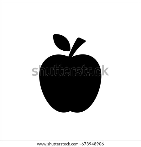 Apple Icon Trendy Flat Style Isolated Stock Vector 673948906 ...