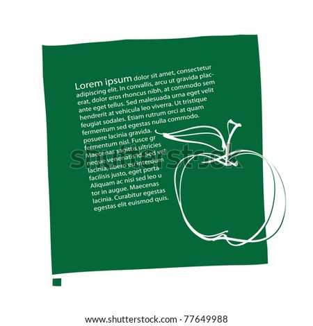 apple icon, page layout, simple freehand vector - stock vector