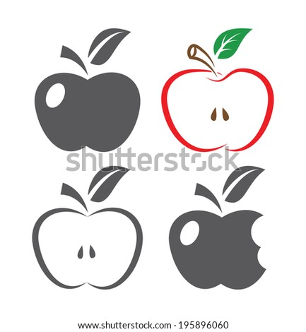Apple Icons - stock vector