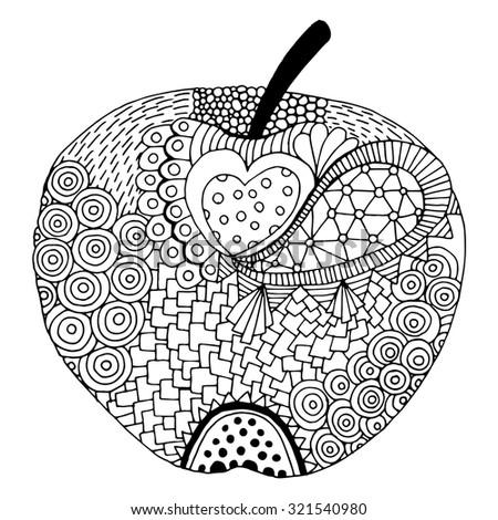 Apple illustration - stock vector