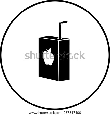 apple juice box symbol - stock vector