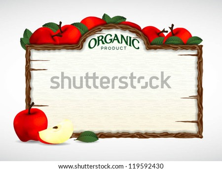 apple menu board - stock vector