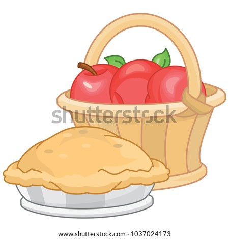 how to draw an apple pie