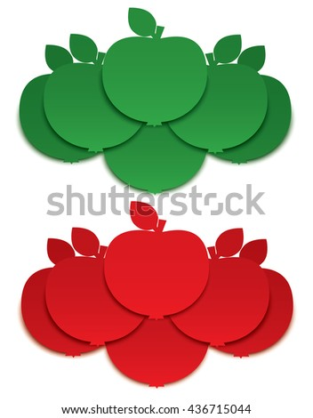 Apple signs  - stock vector