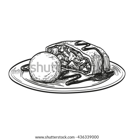 strudel isolated stock images  royalty