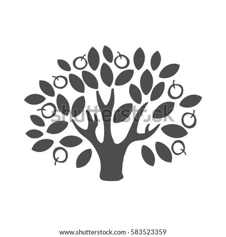 apple tree logo tree illustration icon