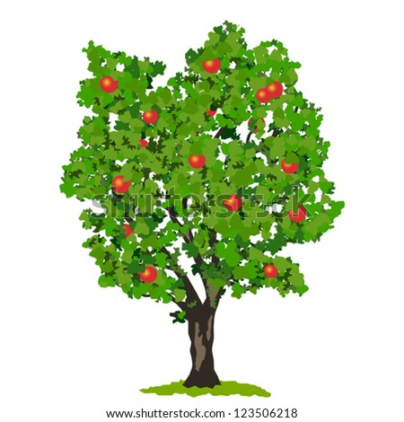 apple tree vector stock images, royalty-free images & vectors