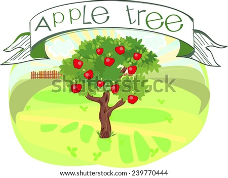 Parts Treeclipart Tree Structure Trunk Root Stock Vector