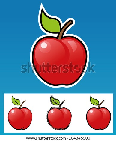 Apple-Various style - stock vector
