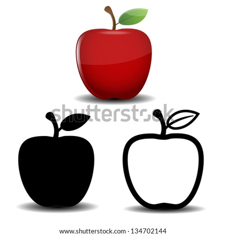 Apple vector - stock vector