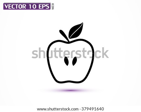 Apple  vector icon
