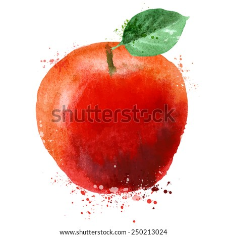 Apple vector logo design template. fruit or food icon. - stock vector