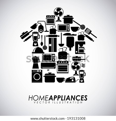 Appliances design over gray background, vector illustration - stock vector