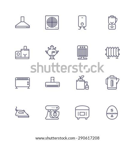 Appliances icons - stock vector