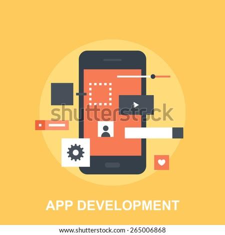 Application Development - stock vector