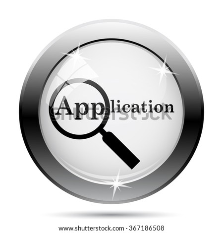 Application icon. Internet button on white background. EPS10 vector. - stock vector
