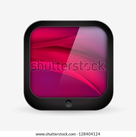 application icon - mobile tablet computer shape - vector - stock vector