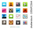 Application Icons and Symbols, vector designs. - stock vector