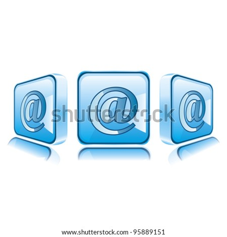 Application icons for Smart Phone isolated on white background. Mail