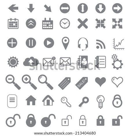 Application Icons for Web and Mobile. icon for internet-shop. use for web design. - stock vector