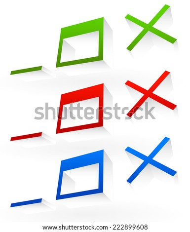 Application or software control buttons. Minimize, maximize and close buttons of computer program - stock vector