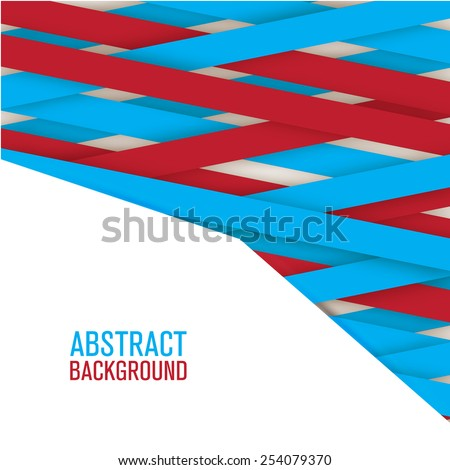 Applique paper background.For your design presentations - stock vector