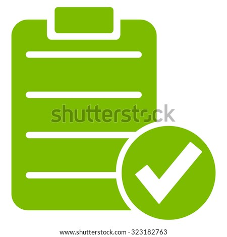 Apply Form vector icon. Style is flat symbol, eco green color, rounded angles, white background.