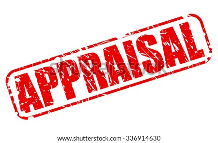 APPRAISAL red stamp text on white - stock vector