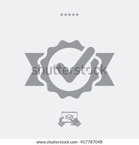 Approval check vector icon - stock vector